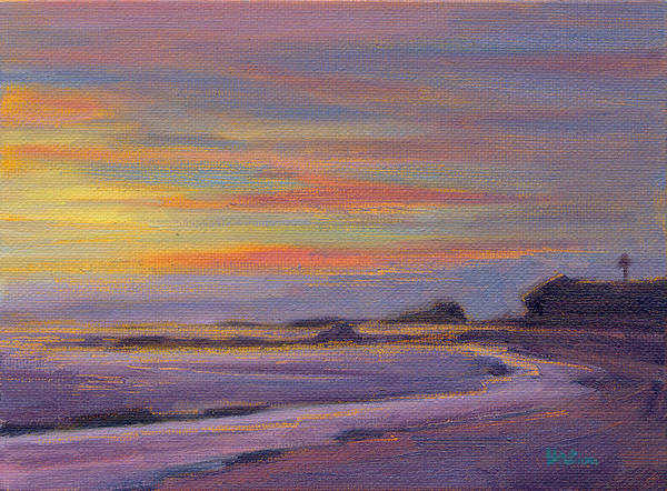 Painting - Sunset At Crystal Cove by Konnie Kim