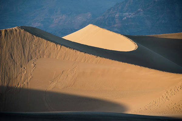 Photograph - Sunset At Death Valley Sand Dunes by Jennifer Ancker