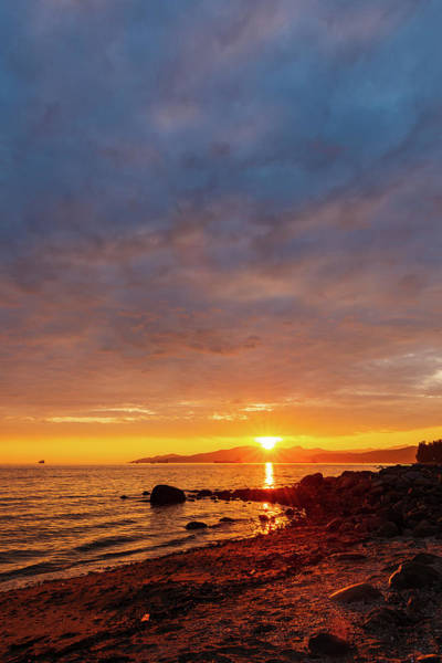 Digital Art - Sunset At English Bay In Vancouver by Michael Lee