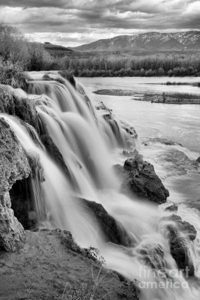 Photograph - Sunset At Fall Creek Falls Black And White by Adam Jewell