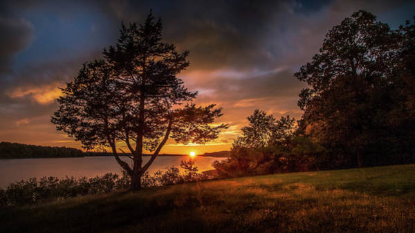 Photograph - Sunset At Fellows Lake by Allin Sorenson