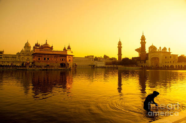 Wall Art - Photograph - Sunset At Golden Temple In Amritsar by Szefei