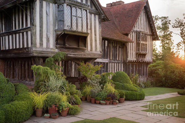 Art Print featuring the photograph Sunset At Great Dixter House And Gardens by Perry Rodriguez