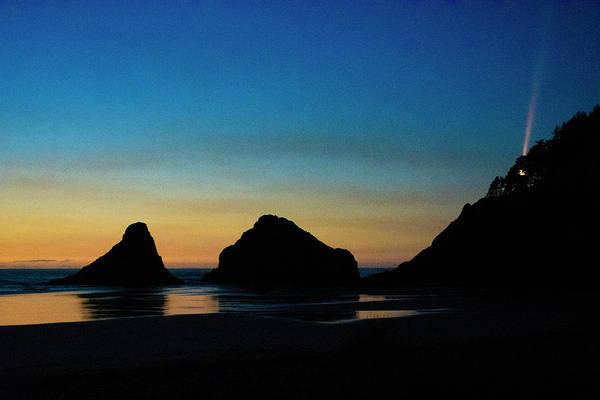 Wall Art - Photograph - Sunset At Heceta Head by Bonnie Bruno