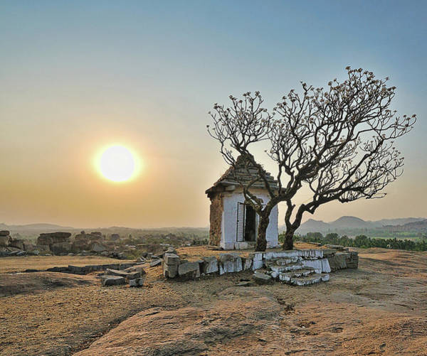 Karnataka Photograph - Sunset At Hemakuta Hill, Hampi by Mukul Banerjee Photography