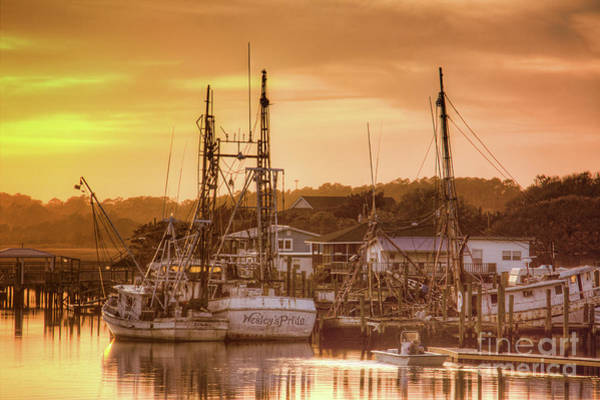 Wall Art - Photograph - Sunset At Holden Beach by Michelle Tinger