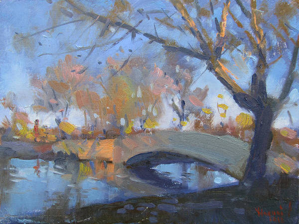 Wall Art - Painting - Sunset At Hyde Park  by Ylli Haruni