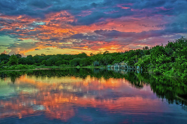Wall Art - Photograph - Sunset At Joshua Springs Lake by Lynn Bauer