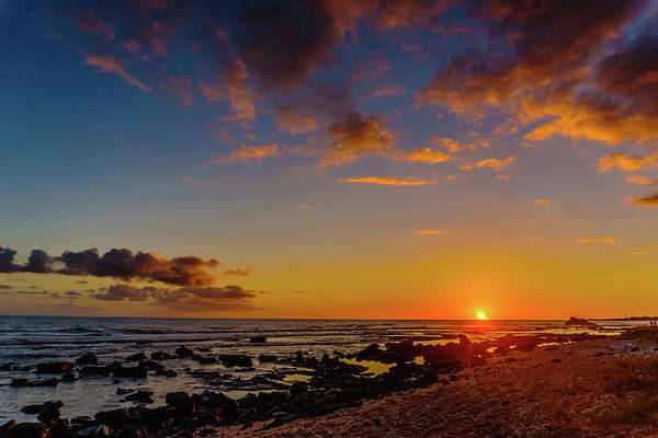 Photograph - Sunset At Kailua Beach by John Bauer