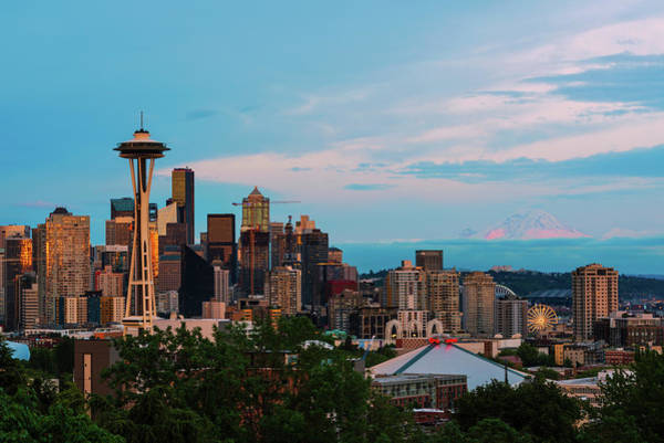 Digital Art - Sunset At Kerry Park by Michael Lee