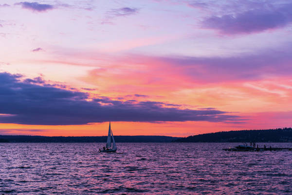 Digital Art - Sunset At Kirkland Wa by Michael Lee
