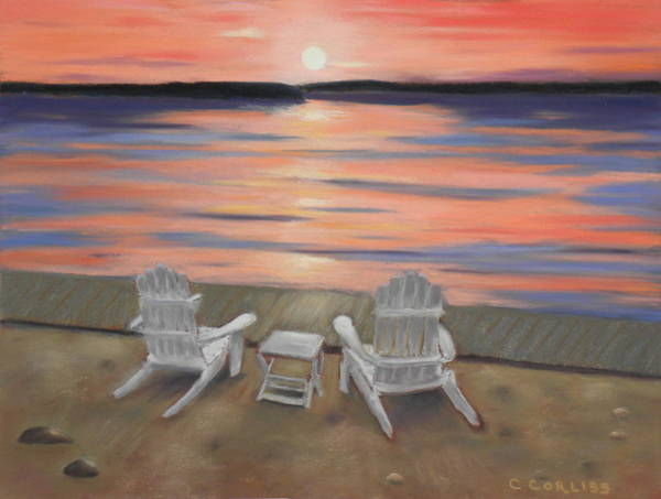 Pastel - Sunset At Mairs by Carol Corliss