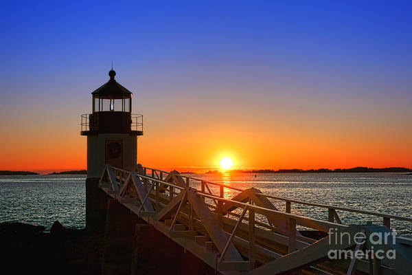 Photograph - Sunset At Marshall Point Lighthouse  by Olivier Le Queinec