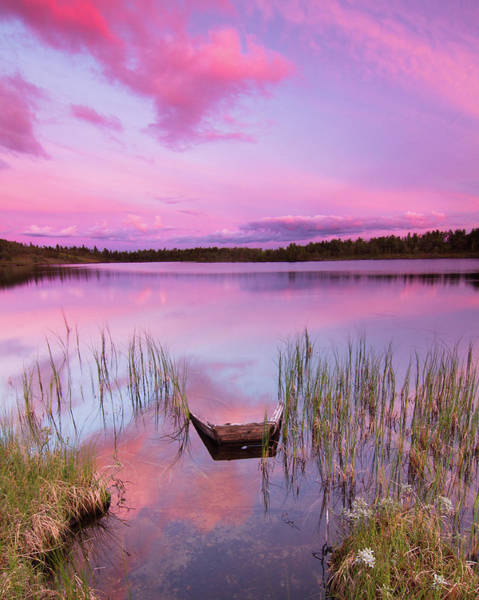 Wall Art - Photograph - Sunset At Midtre Djupetjørn by Trond Strømme