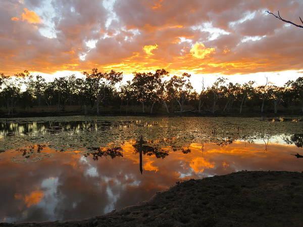 Photograph - Sunset At Minnamoolka 1 by Joan Stratton
