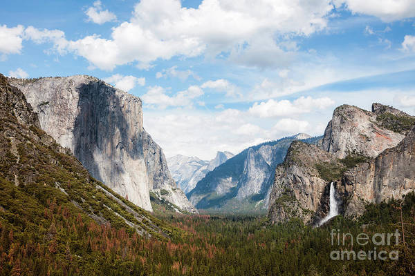 Wall Art - Photograph - Sunset At Over Valley And Waterfall, Yosemite, Usa by Matteo Colombo