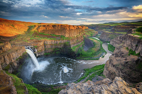 Wall Art - Photograph - Sunset At Palouse Falls by Rick Berk
