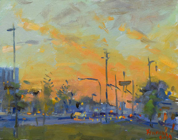 Wall Art - Painting - Sunset At Pine Ave - Portage Rd by Ylli Haruni
