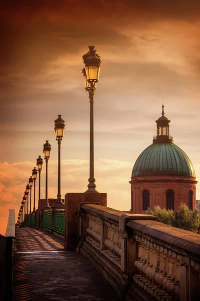 Chapelle Photograph - Sunset At Pont Saint Pierre Toulouse France  by Carol Japp