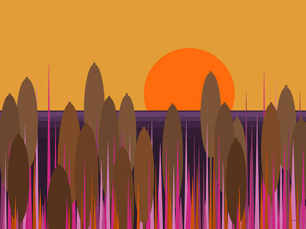 Digital Art - Sunset At Soggy Bottom Swamp by Val Arie