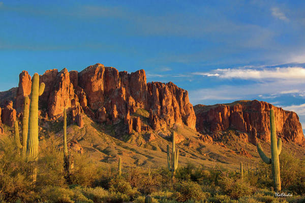 Photograph - Sunset At Superstition Mountain by Tim Kathka