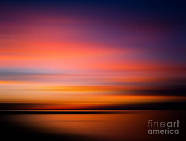 Burning Wall Art - Photograph - Sunset At The Beach. Blurred Panning by Mervas