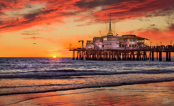 Photograph - Sunset At The Pier by Endre Balogh