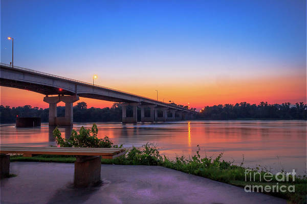 Photograph - Sunset At The River Park by Larry McMahon