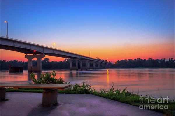 Sunset At The River Park Art Print