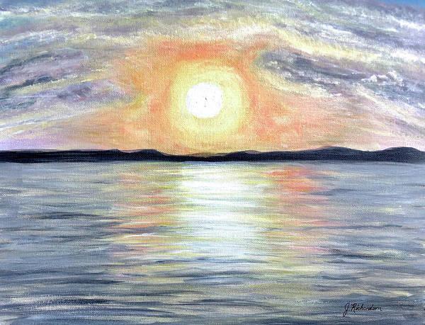 Wall Art - Painting - Sunset At The Shore by Jennifer Richardson