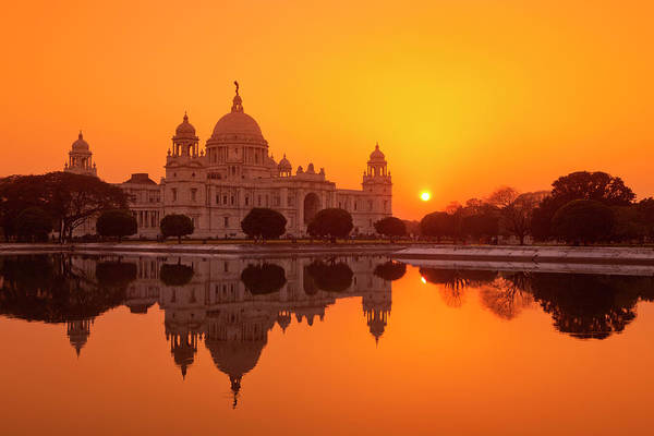 Kolkata Photograph - Sunset At The Victoria Memorial by Adrian Pope