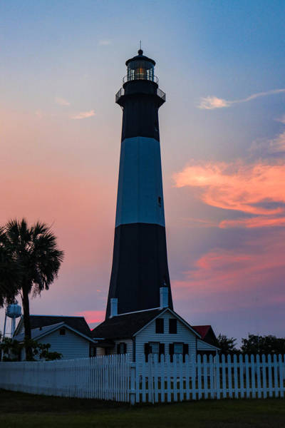 Wall Art - Photograph - Sunset At Tybee Island Lighthouse by Lisa Bell