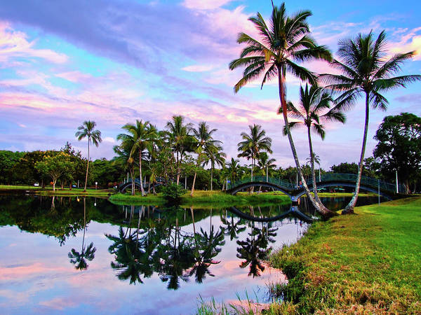 Big Island Photograph - Sunset At Wailoa River State Park, Big by Feng Wei Photography