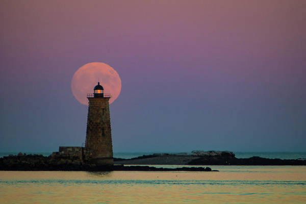 Photograph - Sunset At Whaleback Lighthouse In Maine by Jeff Folger
