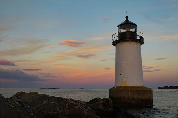 Photograph - Sunset At Winter Island Lighthouse by Jeff Folger