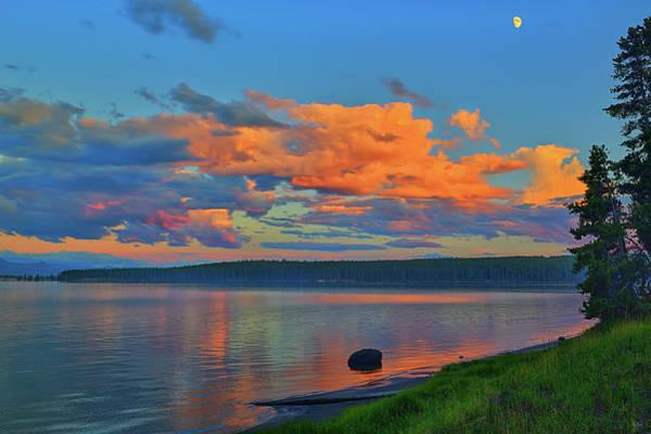 Photograph - Sunset At Yellowstone Lake by Greg Norrell
