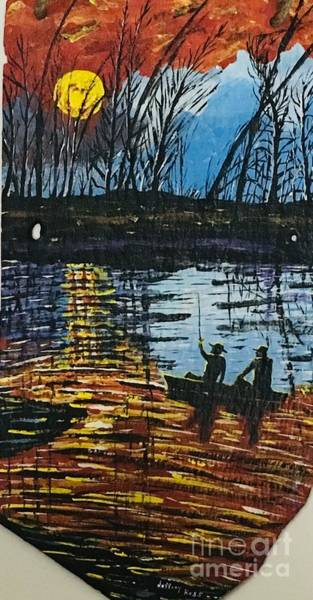 Wall Art - Painting -  Sunset Bass Fishing  by Jeffrey Koss