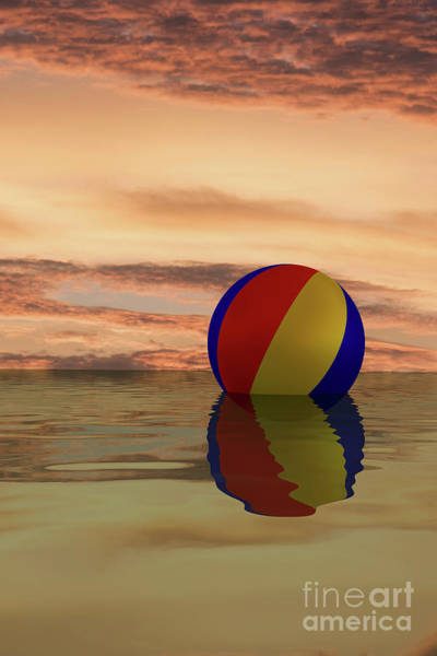 Digital Art - Sunset Beach Ball by Clayton Bastiani