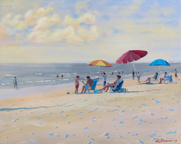 Painting - Sunset Beach Observers by David Gilmore
