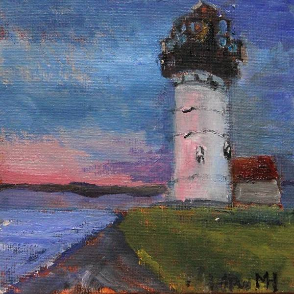 Painting - Sunset Behind Nobska by Michael Helfen
