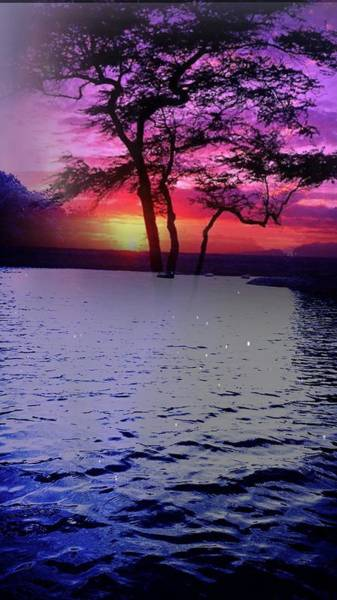 Photograph - Sunset By Lake. by AE collections