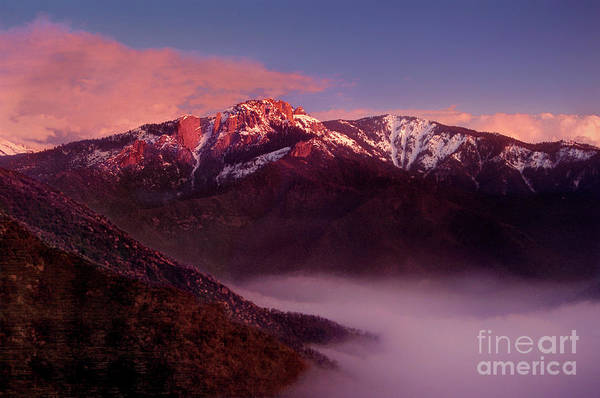 Photograph - Sunset Castle Rock Sequoia National Park California by Dave Welling