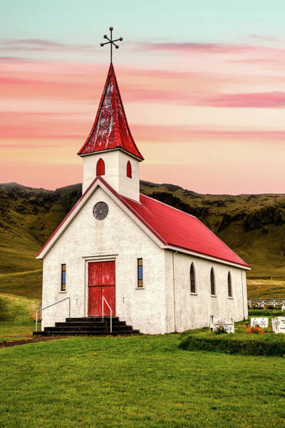 Photograph - Sunset Chapel Of Iceland by David Letts