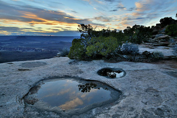 Photograph - Sunset Clouds Reflection In Canyonlands Np by Ray Mathis