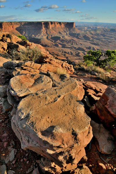 Photograph - Sunset Coming At Green River Overlook In Canyonlands by Ray Mathis
