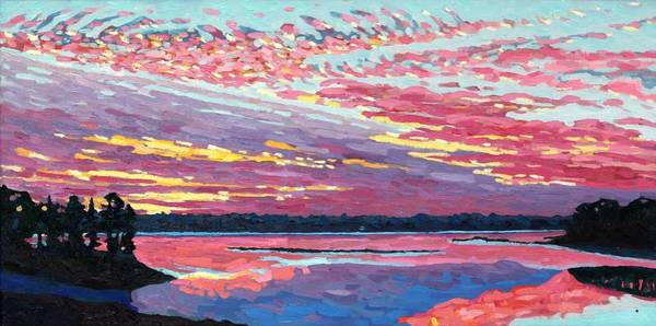 Painting - Sunset Concert In Ac And Ci by Phil Chadwick