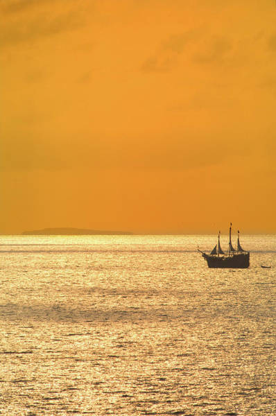 Jalisco Photograph - Sunset Cruise On A Pirate Ship On by Mark D Callanan