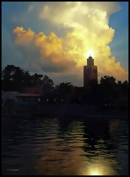 Photograph - Sunset, Epcot, Walt Disney World by A Gurmankin