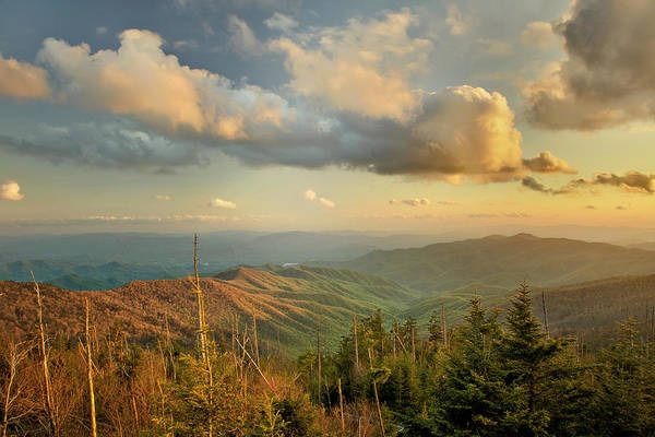Southern Usa Photograph - Sunset From Clingmans Dome by Adam Jones