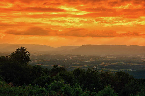 Photograph - Sunset Over Massanutten Mountain by Raymond Salani III
